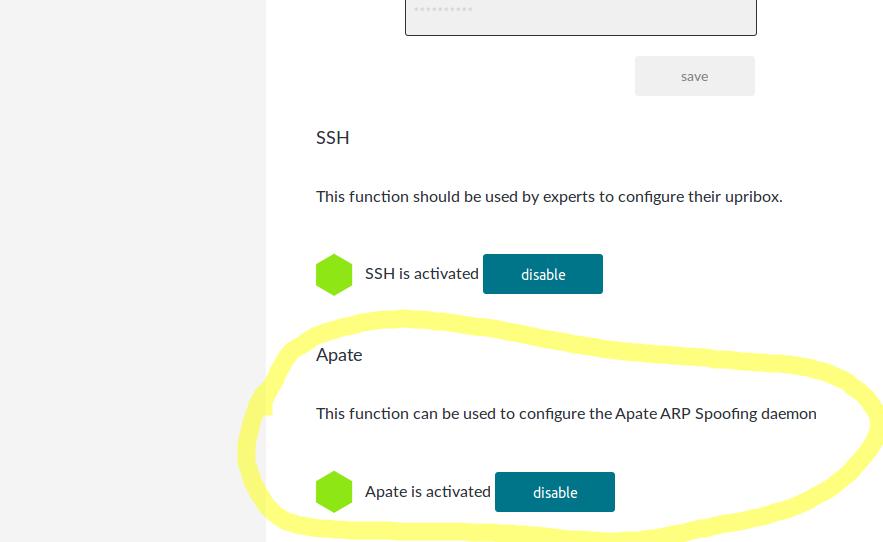 upribox zero-config privacy arp spoofing daemon apate